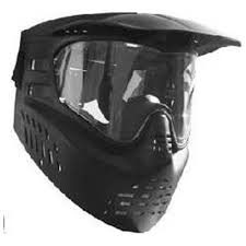 Maska paintballowa GxG single black
